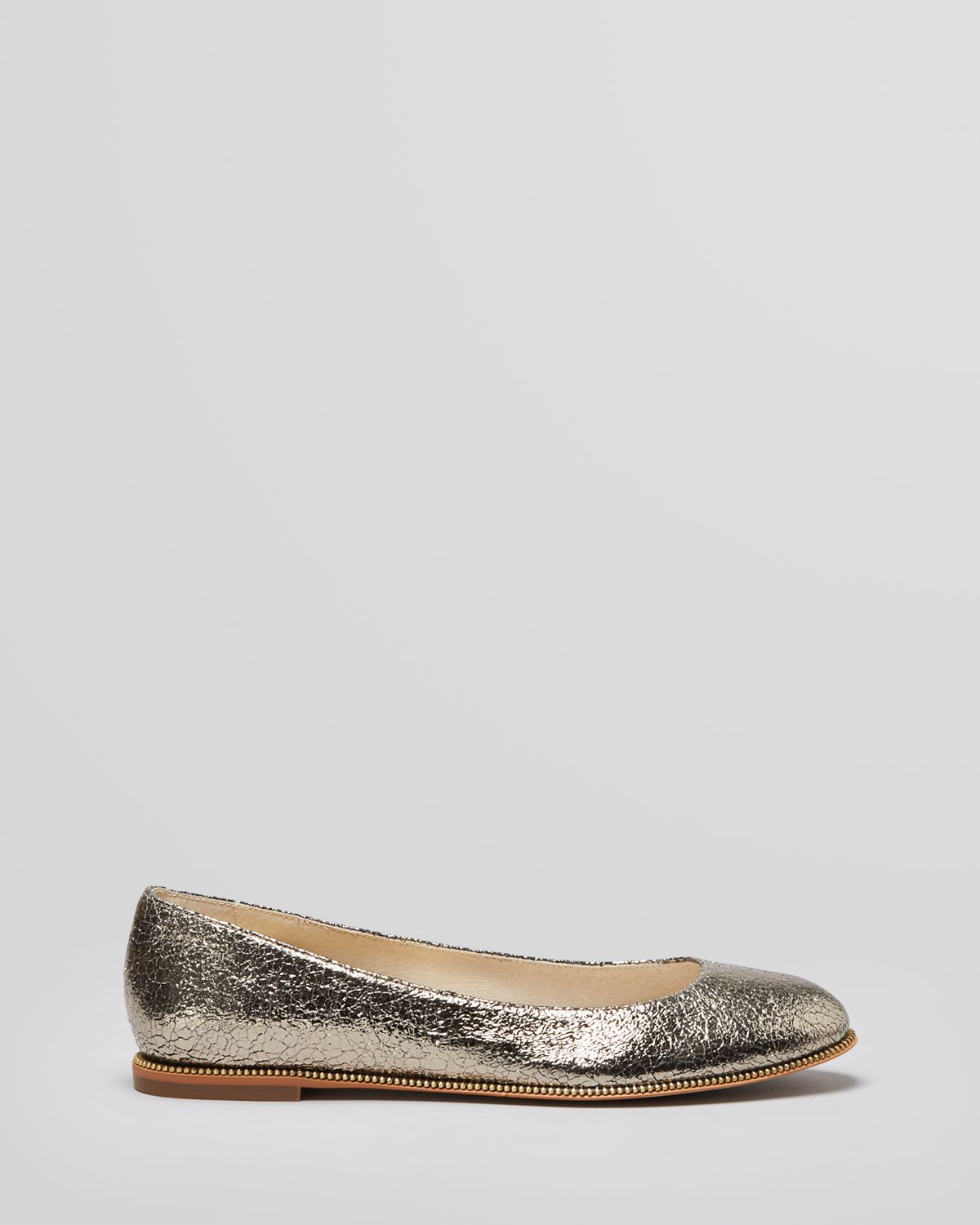 michael michael kors ballet flats bay view in metallic lyst. Black Bedroom Furniture Sets. Home Design Ideas