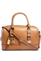 River Island Tan Leather Bowling Bag - Lyst