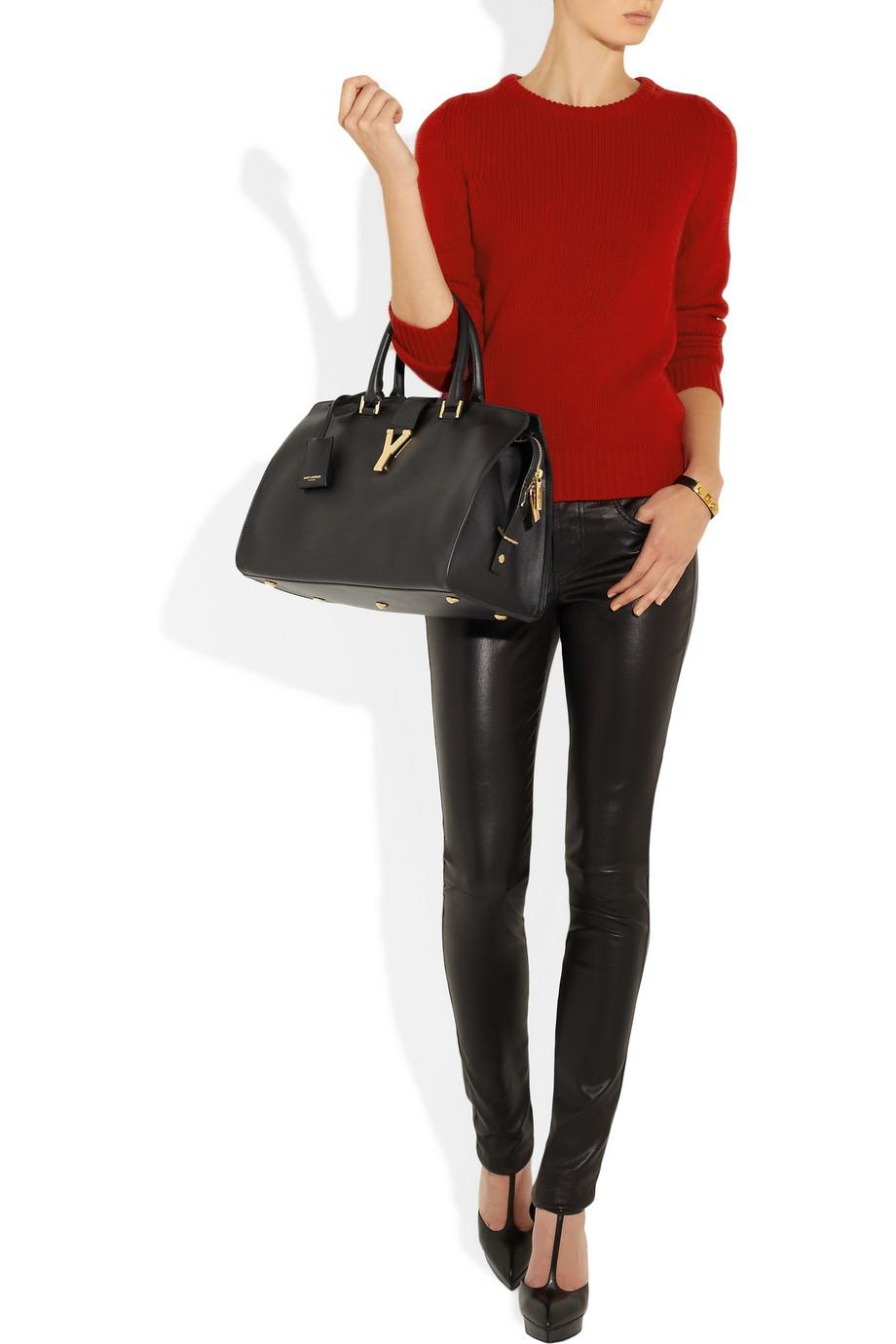 college handbag - yves saint laurent cabas monogram small leather tote, ysl sale ...