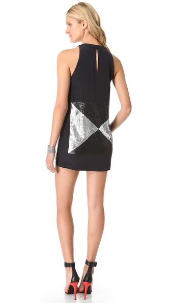 sass bide the revene sequin dress in metallic lyst