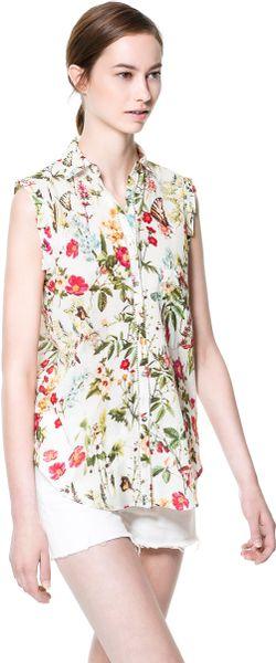 ??? Zara Floral Print Blouse 75