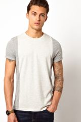 Asos Asos T-shirt with Cut and Sew - Lyst