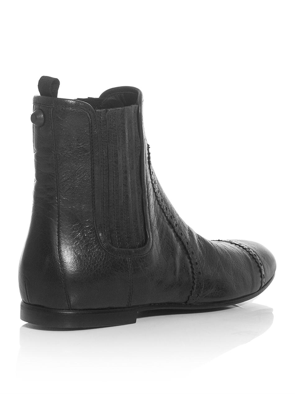 outlet with paypal order online Balenciaga Arena Leather Ankle Boots supply for sale hcc97Y