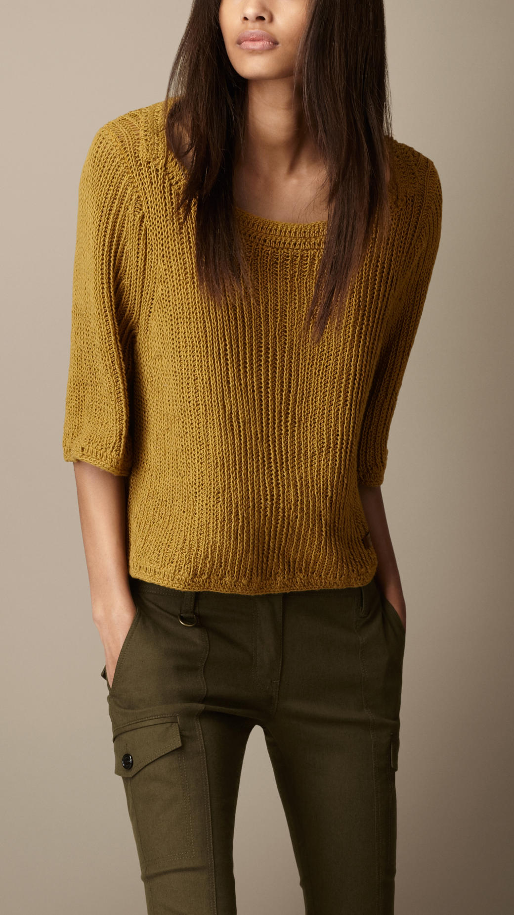 100  [ Mustard Colored Cardigan Sweater ]   1940s Sweater Styles ...