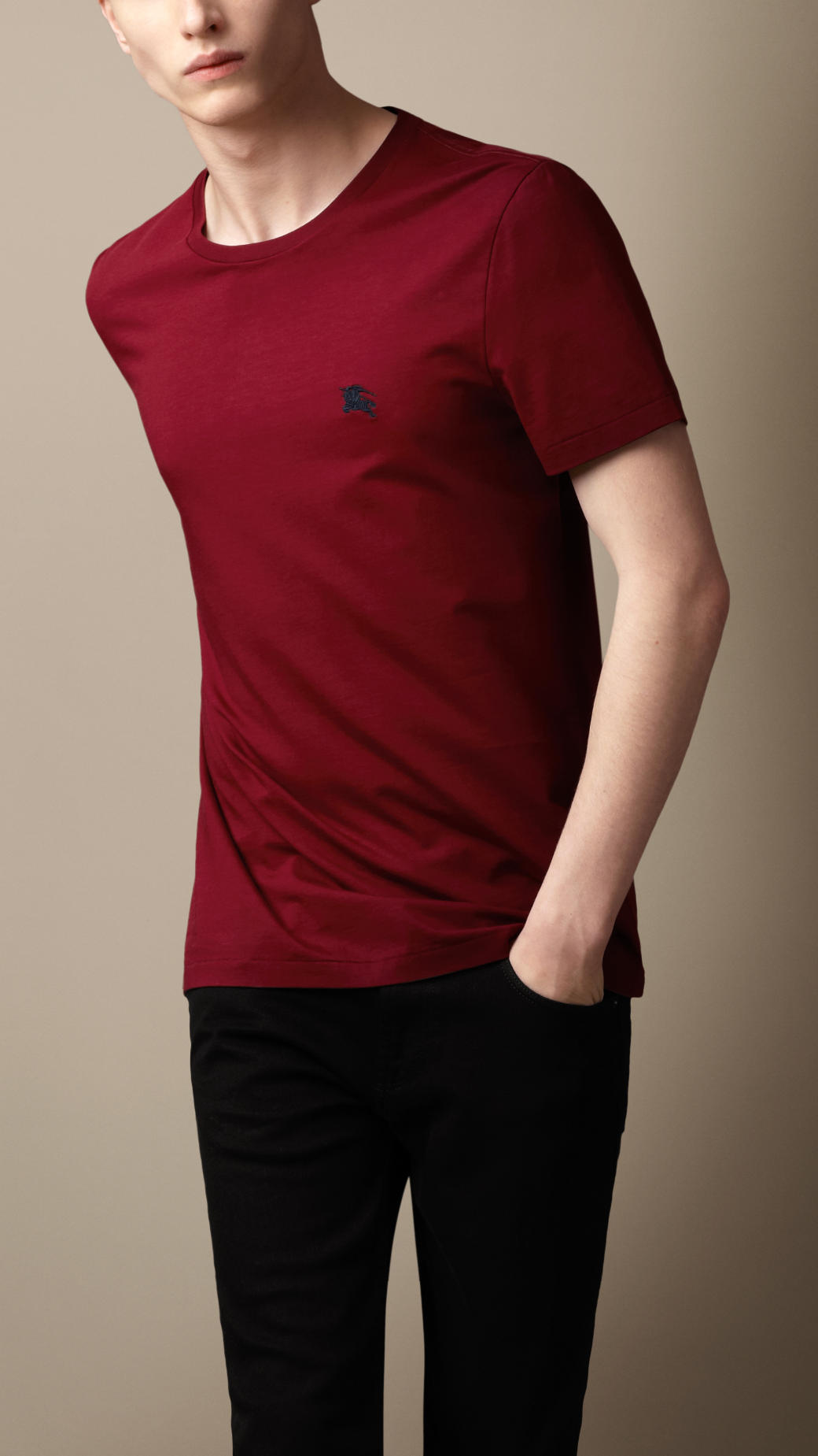 08659c1bd Burberry Liquid Soft Cotton T-Shirt in Red for Men - Lyst