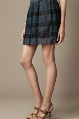 Burberry Check Cottonblend Skirt - Lyst