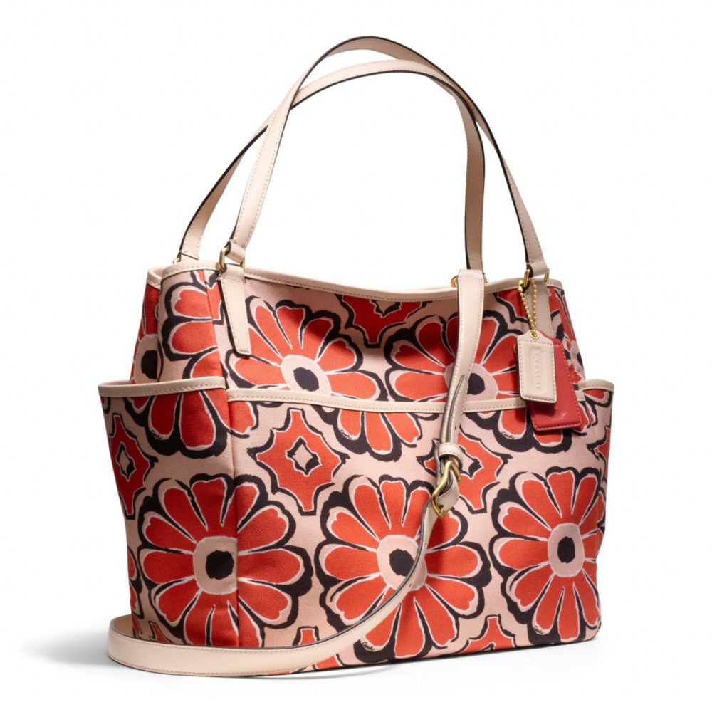 Coach Baby Bag Tote In Floral Scarf Print In Red | Lyst