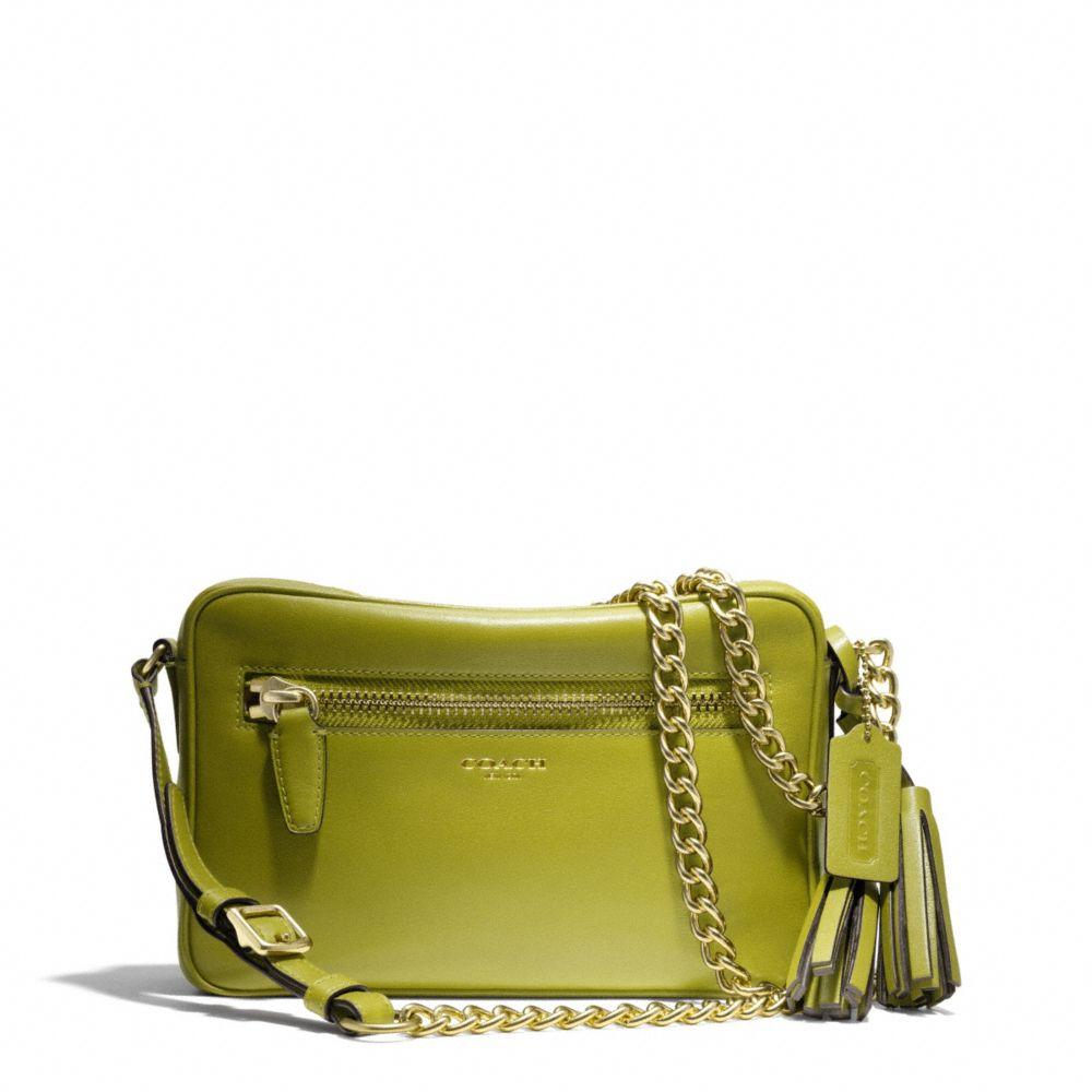 35b341335b9b ... cross body bag tradesy f333d 3f5ae  new zealand lyst coach legacy  flight bag in leather in green eaef5 65929