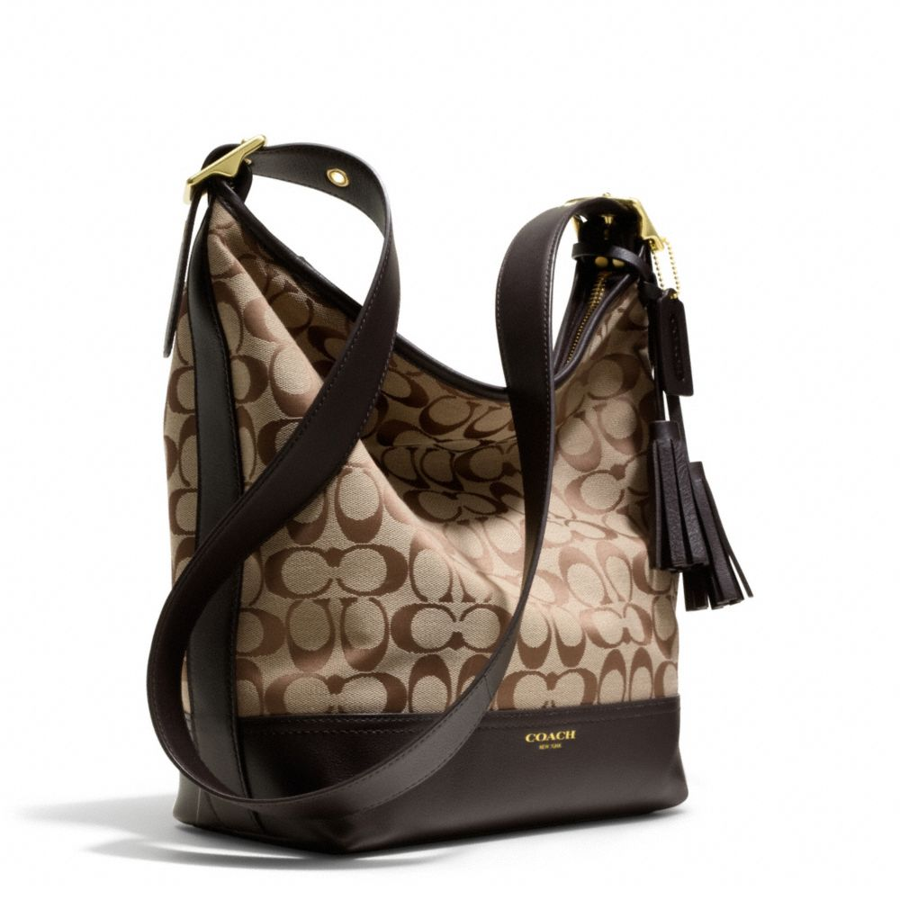 Coach Legacy Duffle In Signature Fabric In Brown Lyst