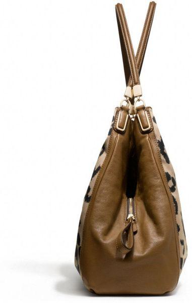 Madison Phoebe Shoulder Bag In Ocelot Print Fabric 37