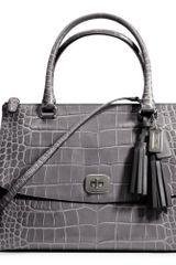 Coach Legacy Large Harper Satchel in Embossed Leather - Lyst