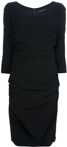 Dolce & Gabbana Ruched Fitted Dress - Lyst