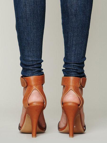 Jeffrey Campbell Blakely Heel In Brown Tan Leather