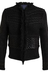 Lanvin Boucle Wool Tailored Jacket - Lyst