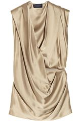 Lanvin Draped Washed-satin Top - Lyst
