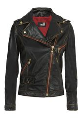 Love Moschino Worn Leather Jacket - Lyst