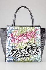 Nancy Gonzalez Cutout pattern Crocodile Tote Bag Black Multi - Lyst