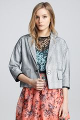 Nanette Lepore Glazed Netted Leather Jacket - Lyst