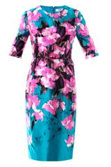 Prabal Gurung Painterly Lilyprint Sheath Dress - Lyst