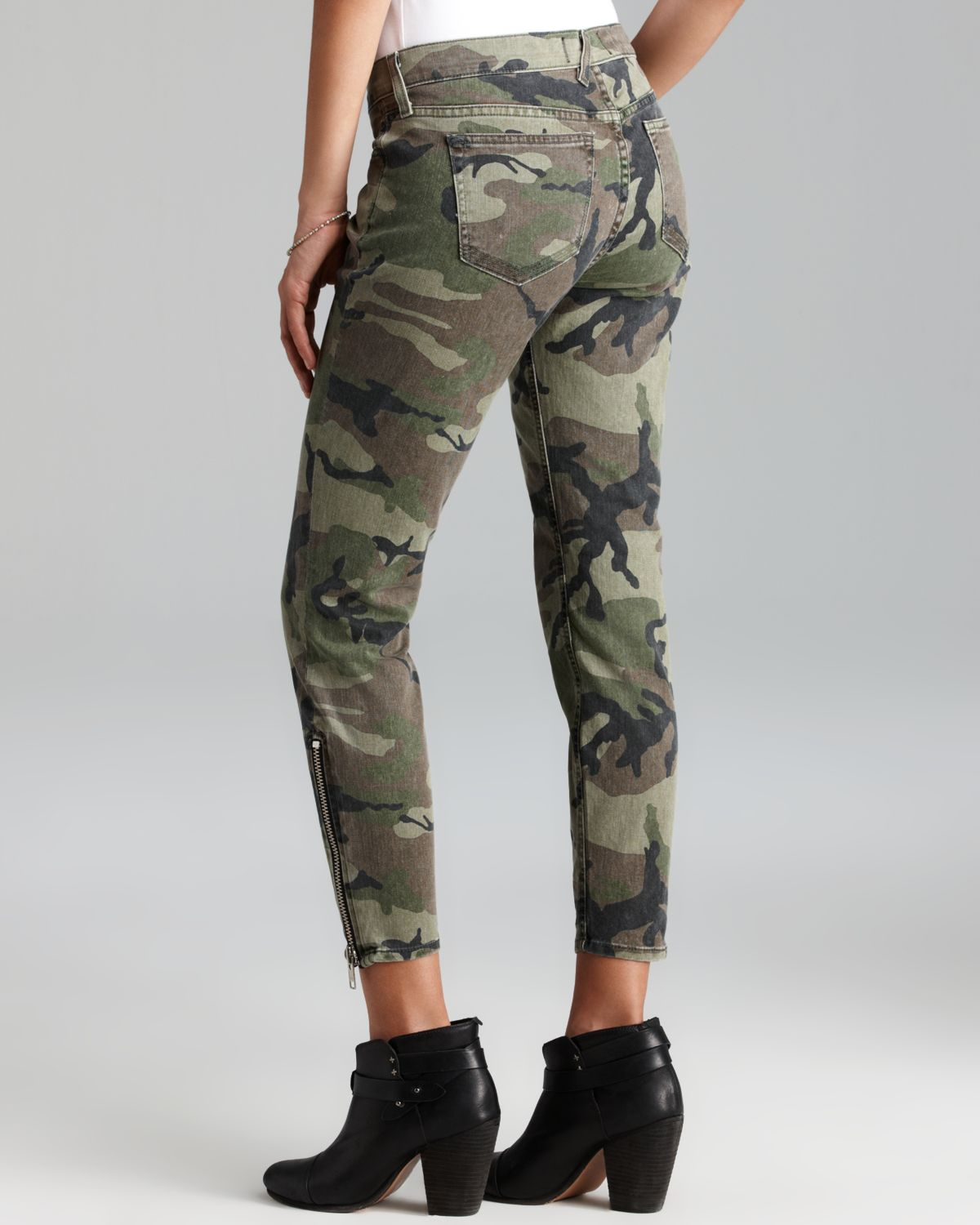 Textile elizabeth and james Jeans Cooper Skinny in Olive Camo in ...
