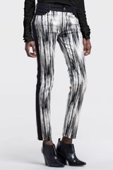 10 Crosby by Derek Lam Abstract Print Side Stripe Pants - Lyst