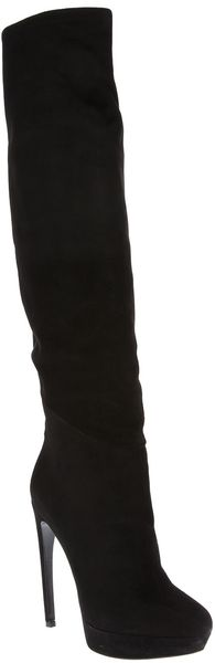 Alexander McQueen Knee High Platform Boot - Lyst