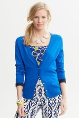 Banana Republic Tipped Vneck Cardigan - Lyst