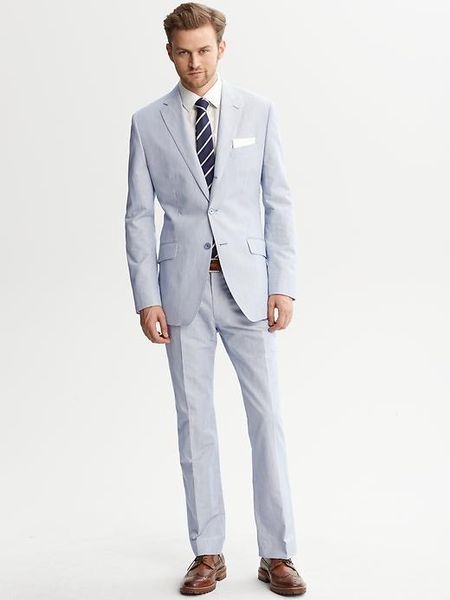 Banana Republic Tailoredfit Navy Seersucker Suit Jacket in ...