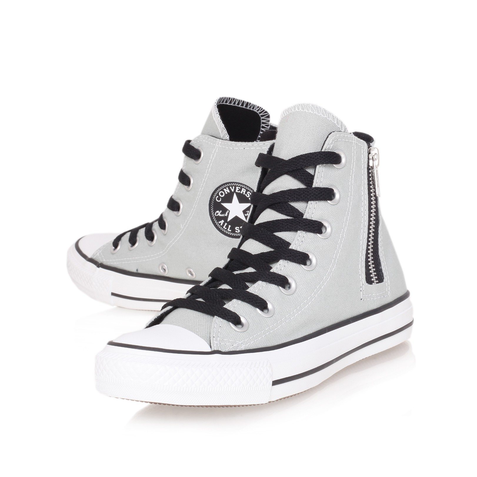 d5f9d9fd7a39c9 ... where to buy converse gray in hi zip lyst side ct xwqunrx4ax 8174e  d4379 italy converse womens chuck taylor all star triple ...