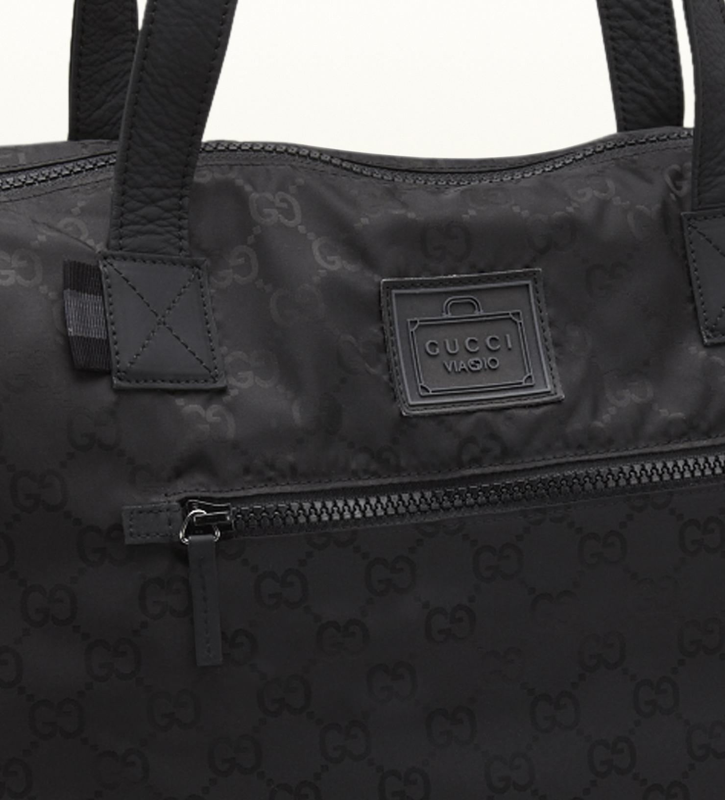8f90b21014ea Lyst - Gucci Black Gg Nylon Duffel Bag From Viaggio Collection in ...