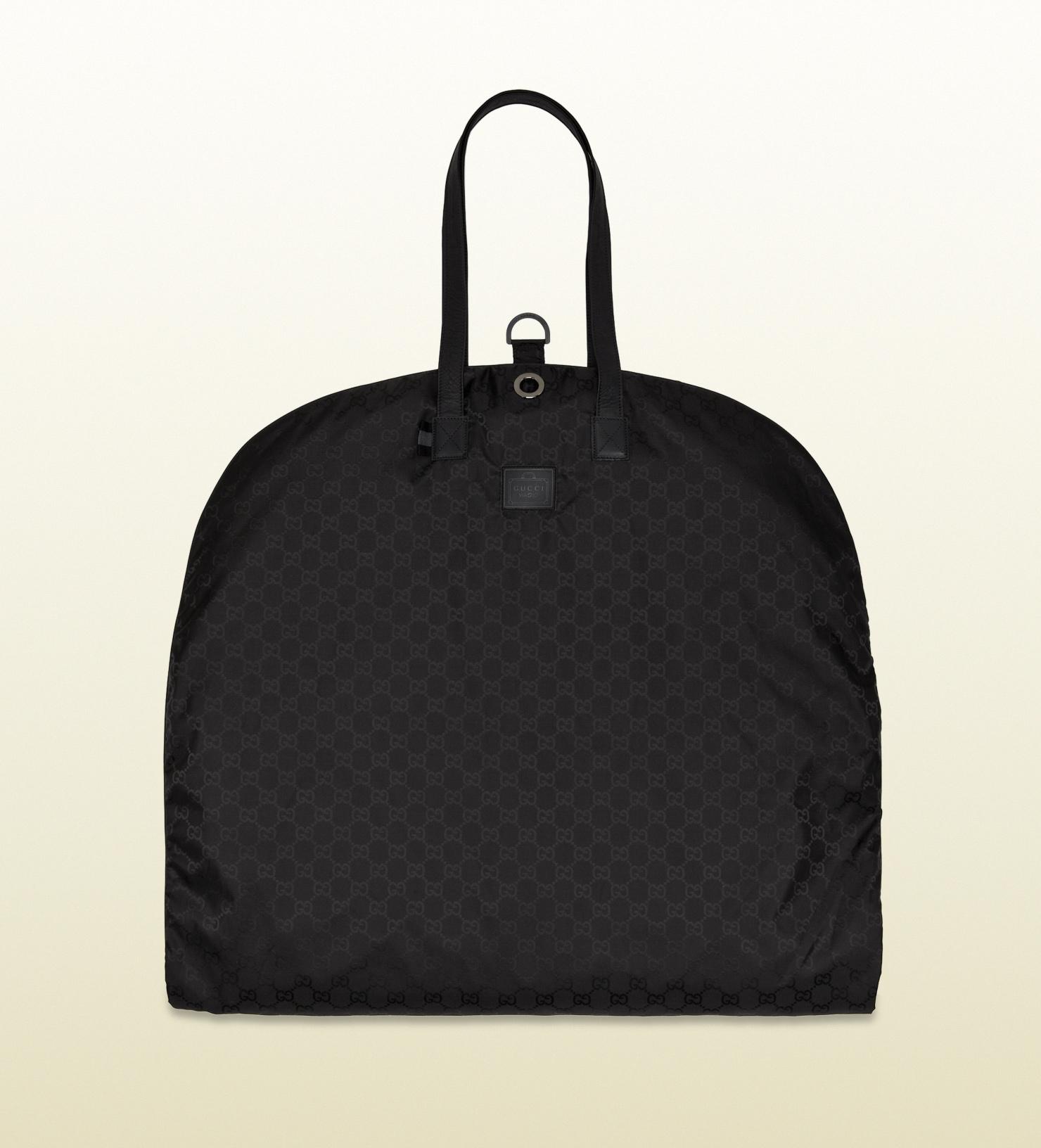 c0a20cbdf2c9 Gucci Black Gg Nylon Garment Bag From Viaggio Collection in Black ...