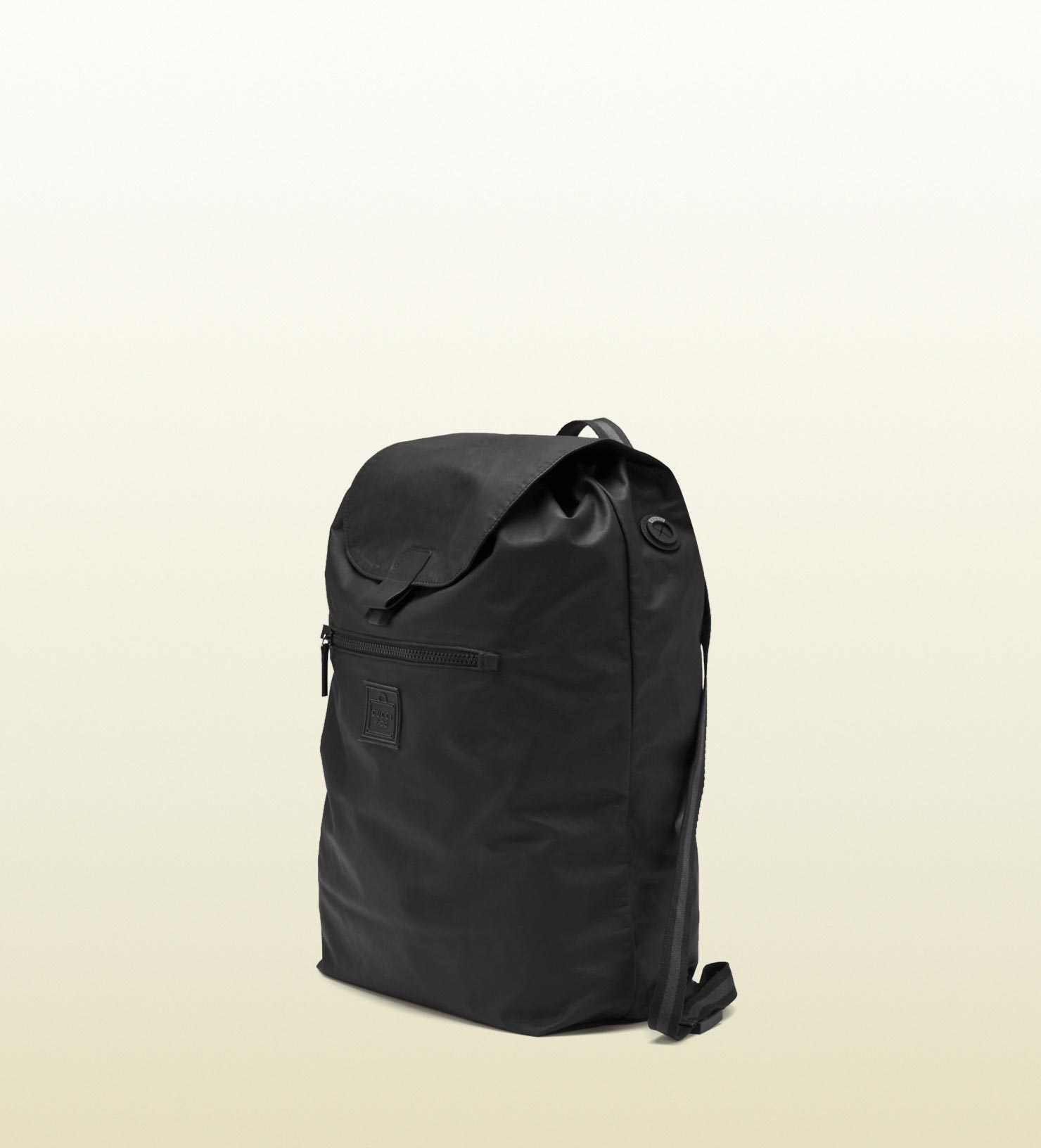 1aada4dea12c Lyst - Gucci Black Leather Backpack From Viaggio Collection in Black ...