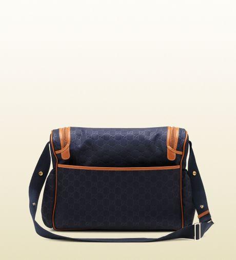 Gucci Blue Nylon Ssima Diaper Bag in Blue