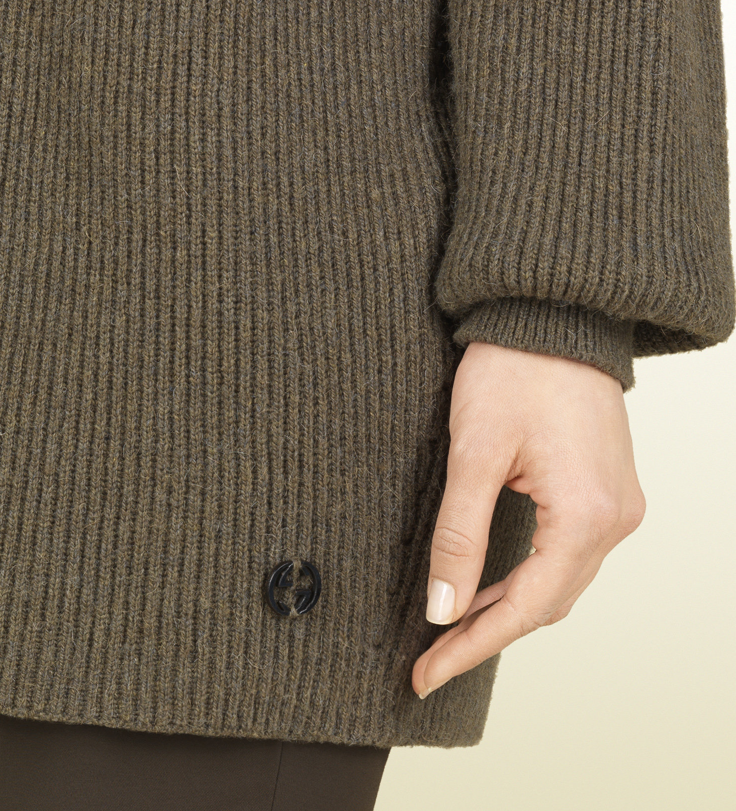 Gucci Light Brown Turtleneck Oversize Sweater in Brown   Lyst