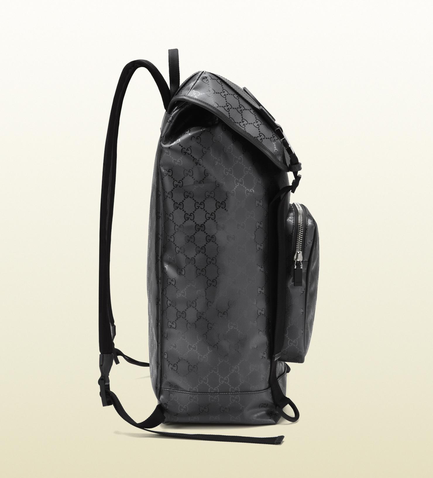 4c672bf5d20 Lyst - Gucci Gg Imprime Interlocking G Backpack in Black for Men