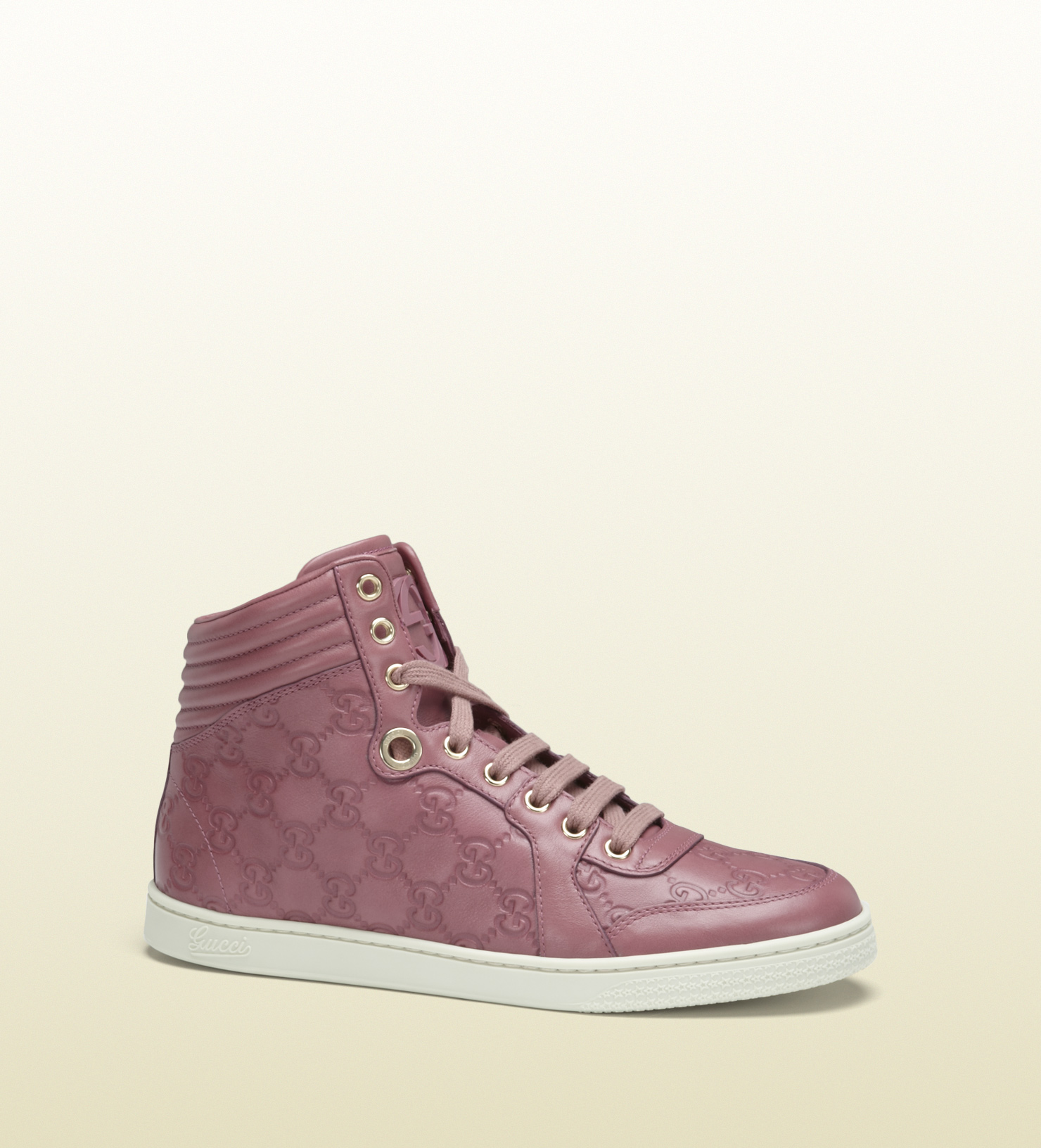 175b00696 Gucci Coda Dark Pink Guccissima Leather Hightop Sneaker in Pink for ...