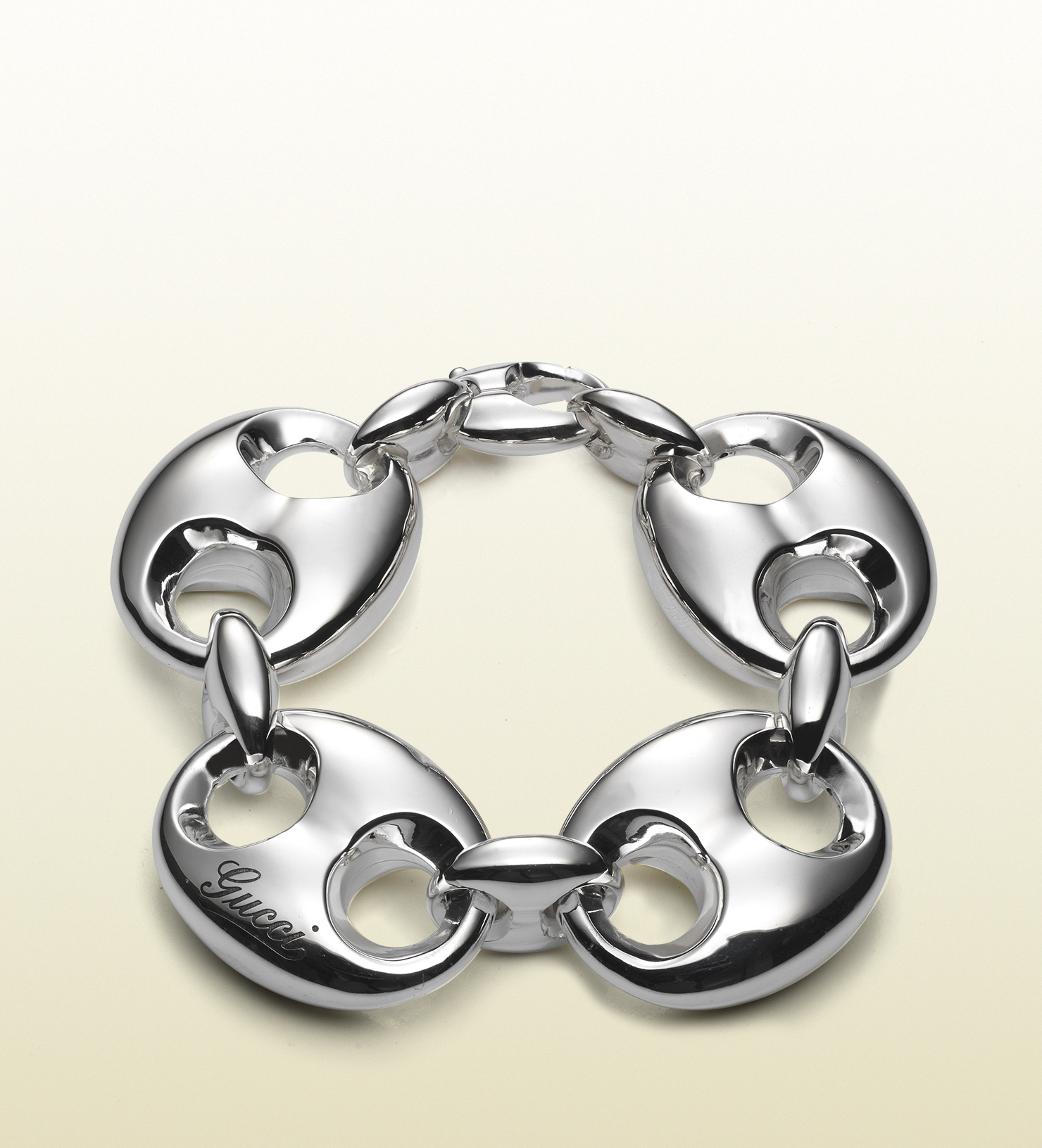 Lyst Gucci Bracelet In Sterling Silver With Large Marina