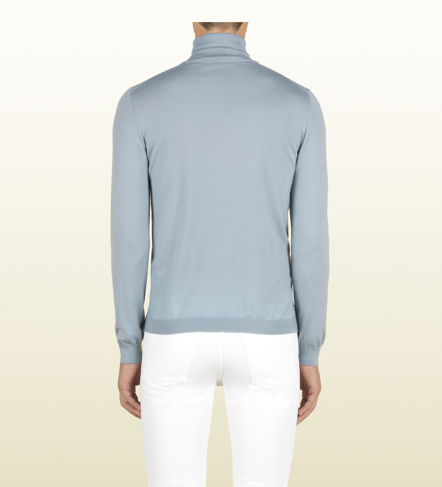 Gucci Sky Blue Cashmere Turtle Neck Sweater in Blue for Men | Lyst