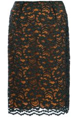 Jo No Fui Floral Lace Pencil Skirt - Lyst