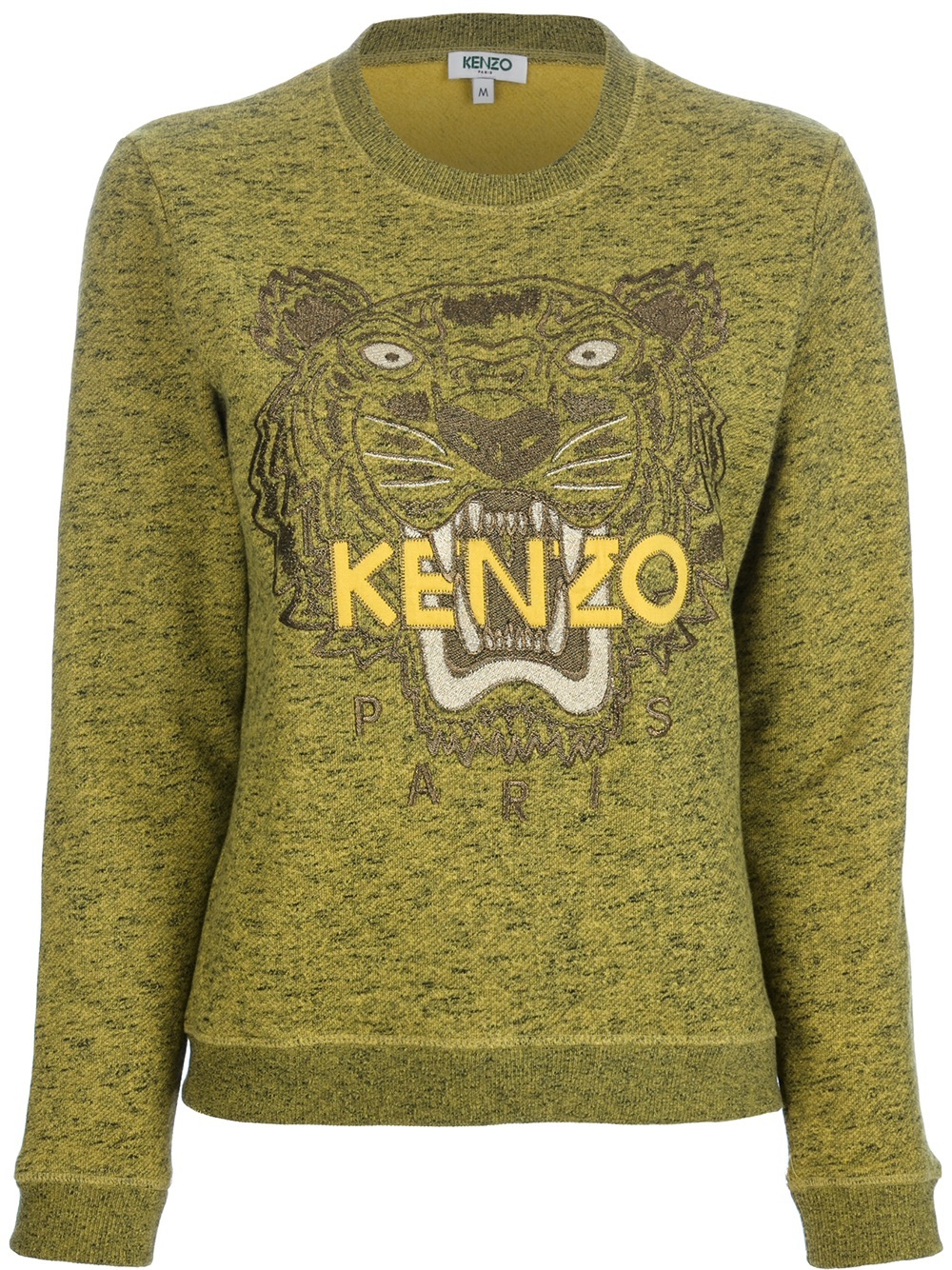 63097e6f KENZO Embroidered Tiger Sweater in Green - Lyst