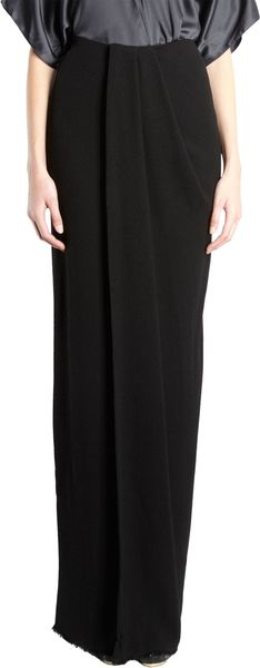 Lanvin Draped Maxi Skirt - Lyst