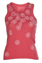 Lucien Pellat Finet Beaded Flower Vest - Lyst