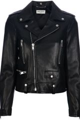 Saint Laurent Biker Leather Jacket - Lyst
