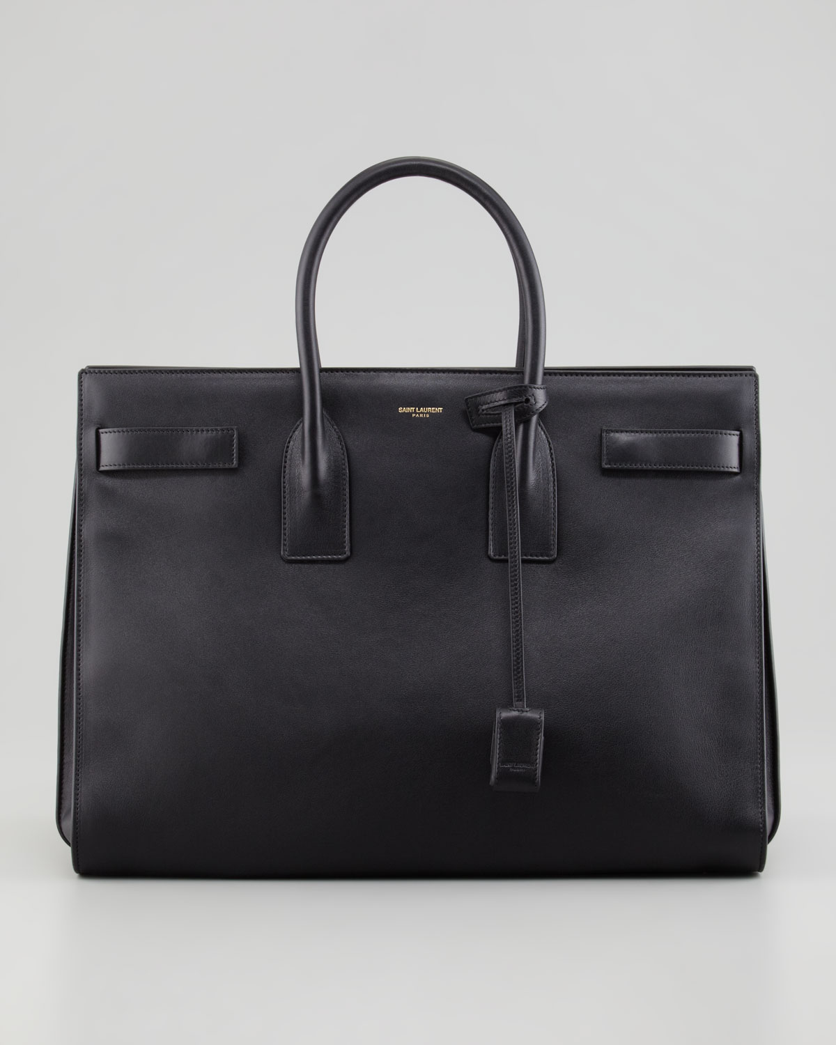saint laurent classic sac de jour leather tote bag black in black lyst. Black Bedroom Furniture Sets. Home Design Ideas