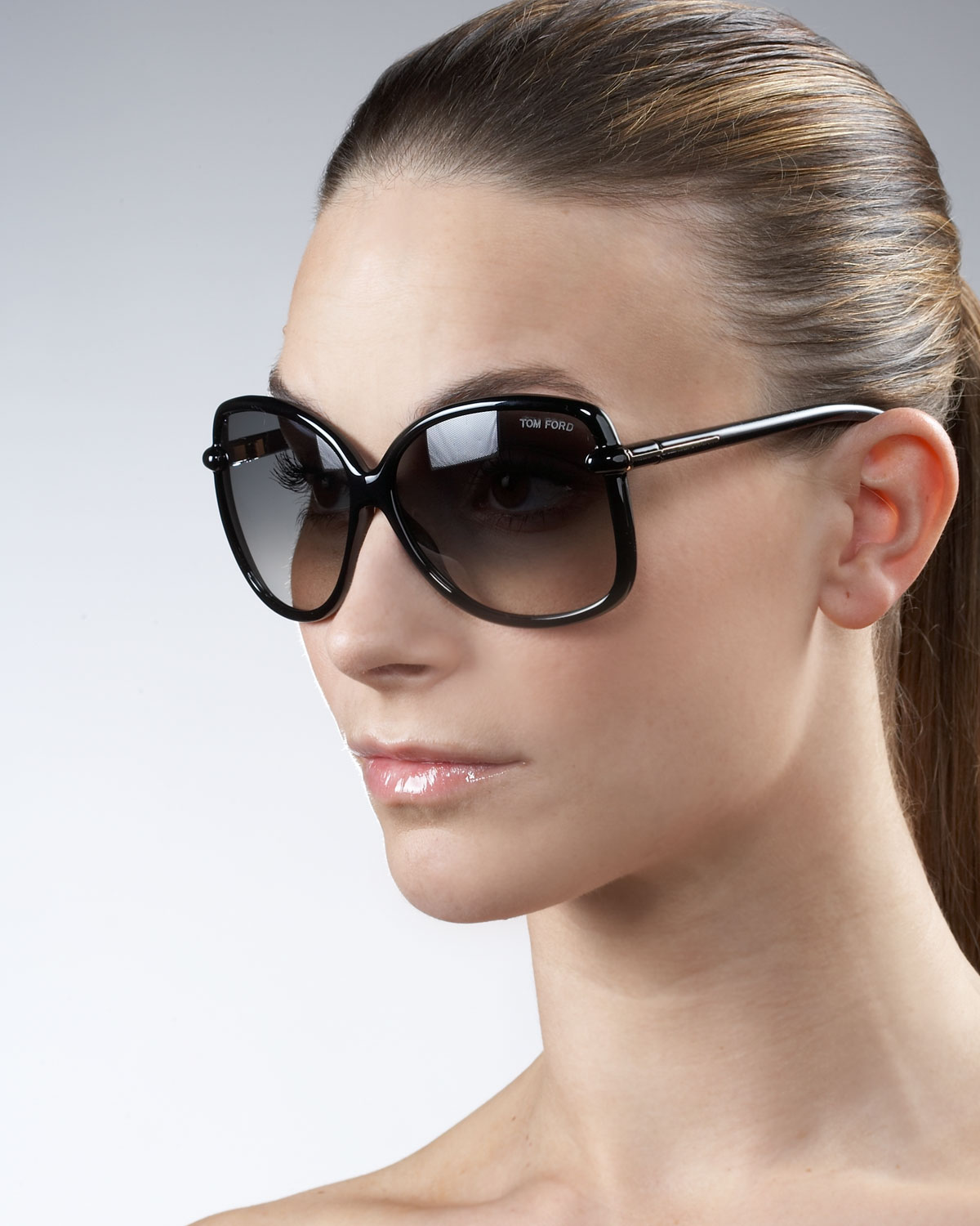d39b170975d Tom Ford Callae Oversized Sunglasses in Brown - Lyst