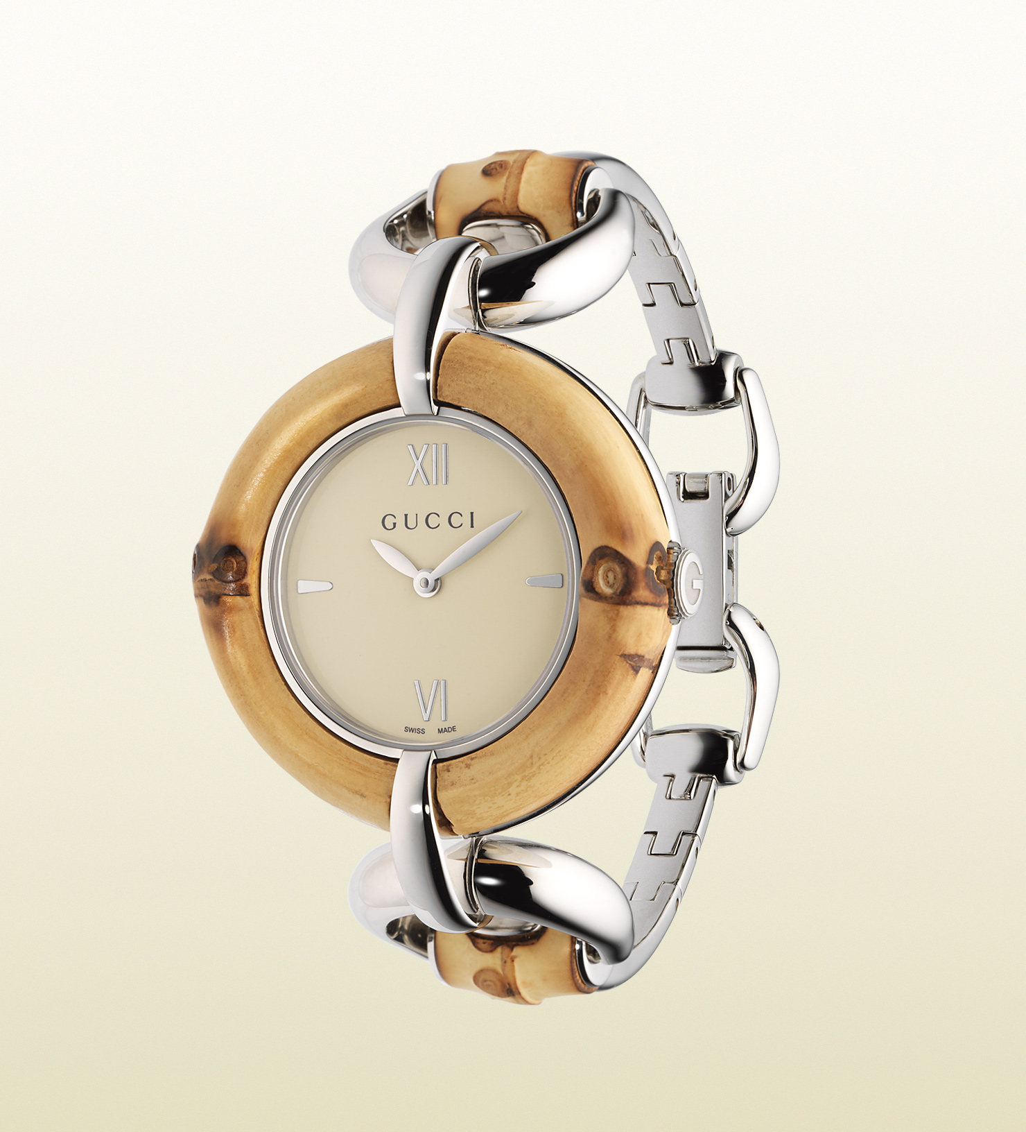 188da4f4857 Lyst - Gucci Bamboo Watch Love Organization Special Edition in Natural