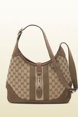 Gucci Jackie Original Gg Canvas Shoulder Bag - Lyst