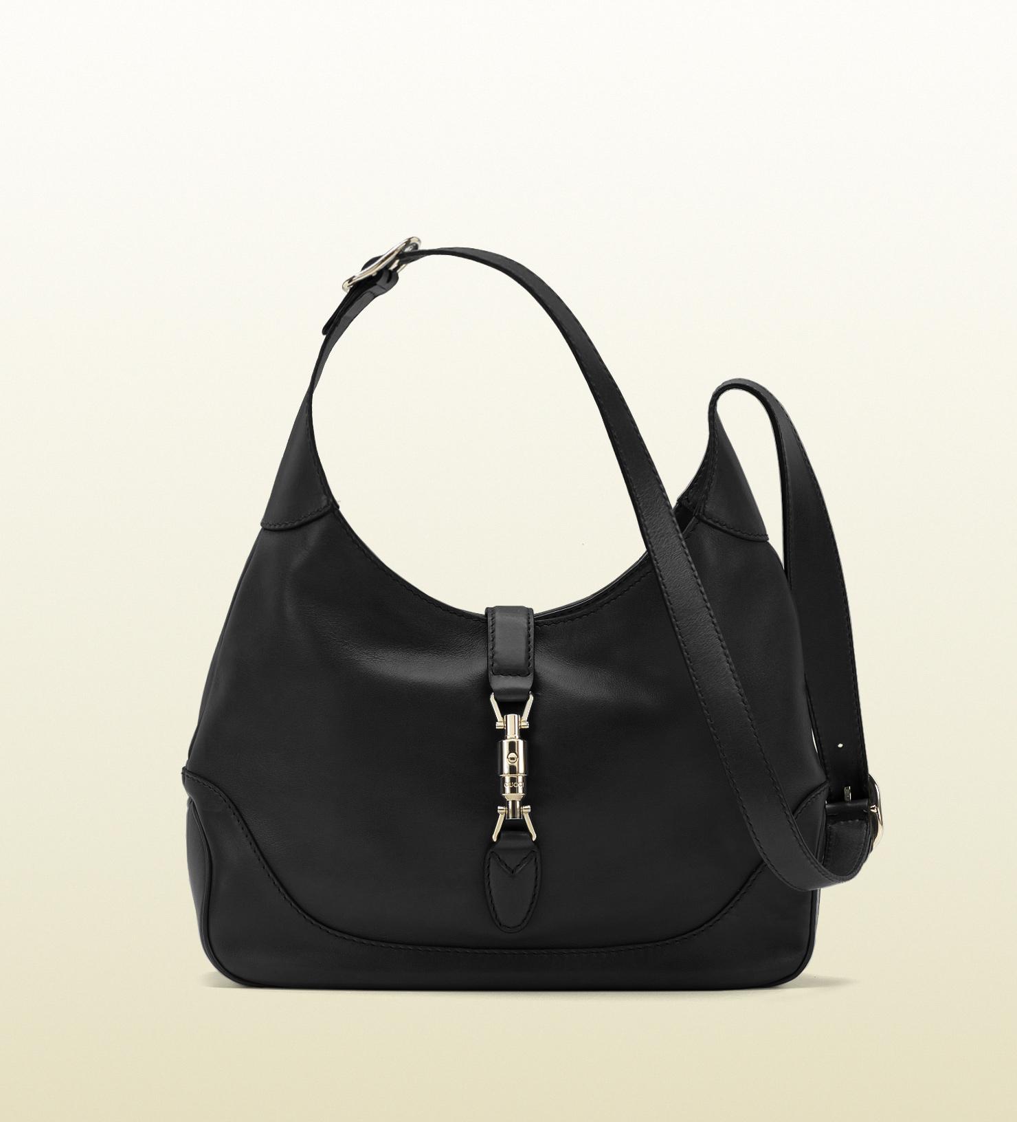 1df8e5c53ce Lyst - Gucci Jackie Leather Shoulder Bag in Black
