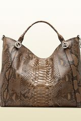 Gucci Miss Gg Python Top Handle Bag - Lyst