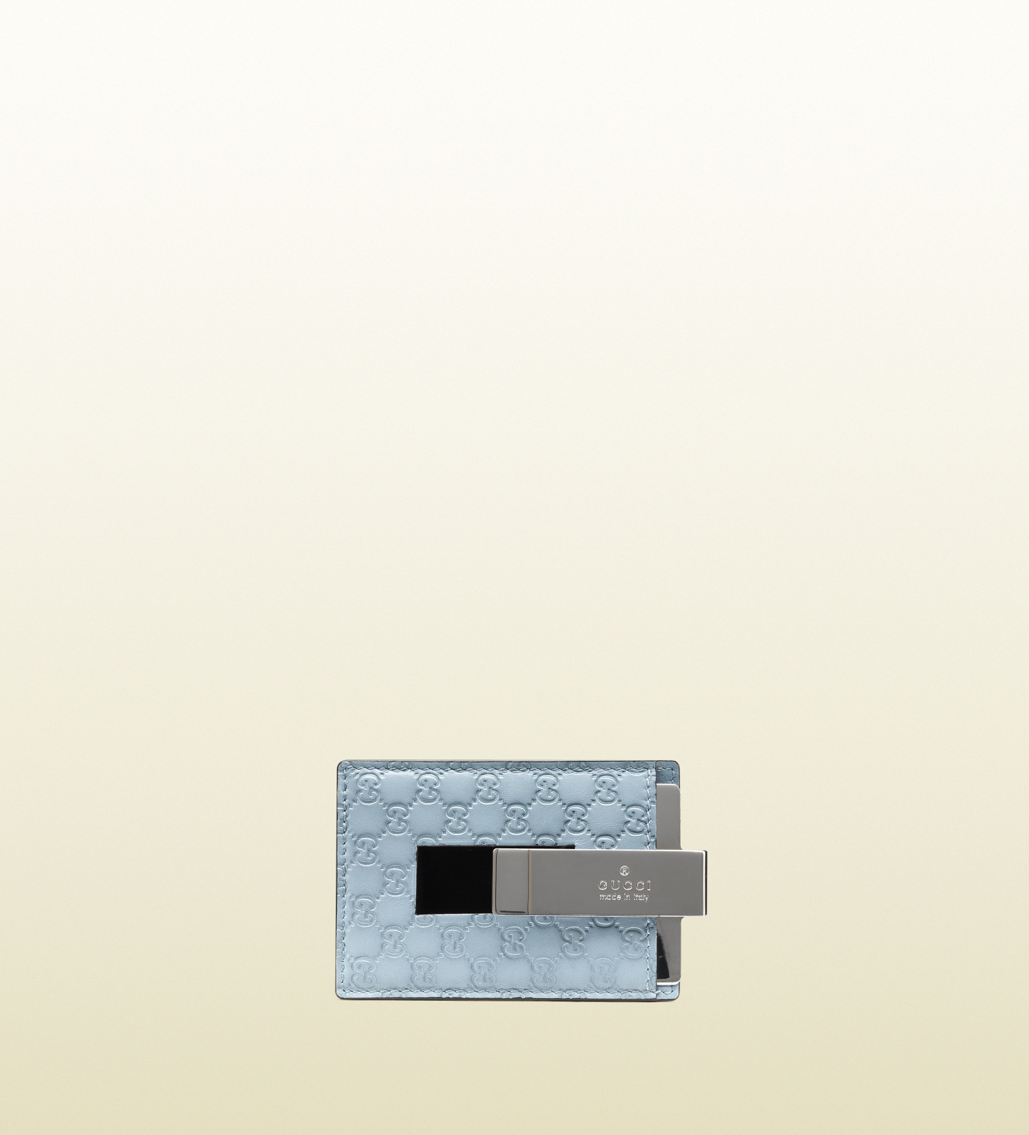 001410c2d7c9 Gucci Sky Blue Microguccissima Leather Money Clip Wallet in Blue for ...
